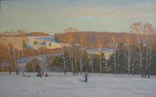 Eugene Alexandrovich Kazantsev. Winter. Evening.