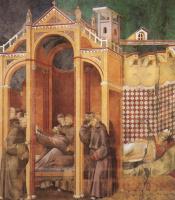 Джотто ди Бондоне. Явление для Фра Агостино и епископу Гвидо из Ареццо