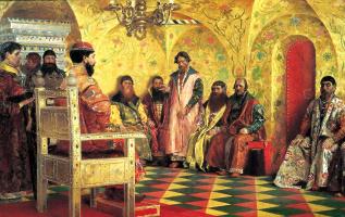 Андрей Петрович Рябушкин. Сидение царя Михаила Федоровича с боярами