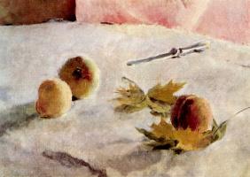 Девочка с персиками. Фрагмент