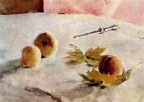 Valentin Aleksandrovich Serov. Girl with peaches. Fragment
