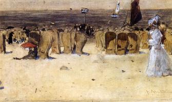 Флорис Арнцениус. Фигуры на пляже