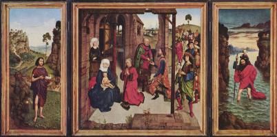 Иоанн Креститель, поклонение волхвов и Святой Христоф