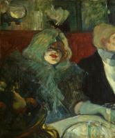 """Henri de Toulouse-Lautrec. In a separate room (In the """"Dead rat"""")"""