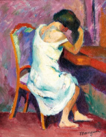 Henri Manguin. Jeanne at the dressing table