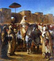 Эжен Делакруа. Султан Марокко Мюли Абд-эль-Рахман и его свита