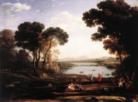 Клод Лоррен. Пейзаж с фигурами танцоров