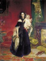 Karl Pavlovich Bryullov. Portrait of M. A. Bek with her daughter