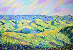 Алексей Жидков. Пейзаж с холмами