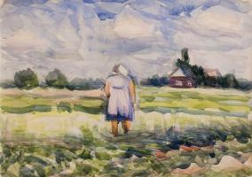Анна Александровна Лепорская. Крестьянка в поле