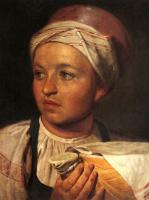 Алексей Гаврилович Венецианов. Девушка с крынкой молока