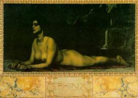 Franz von Pieces. Reclining Nude