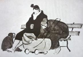 Леонид Владимирович Сойфертис. На скамейке