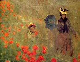 Claude Monet. Field of poppies in Argenteuil