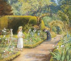 В саду: визит к бабушке
