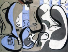 Le Corbusier. Two figures in gray