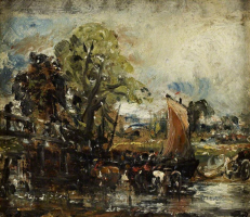 John Constable. Swamp (study with cows). National Gallery, Edinburgh.