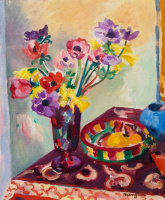 Henri Manguin. Anemones and daffodils