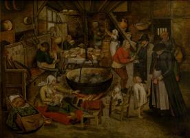 Питер Брейгель Младший. Посещение крестьянского дома