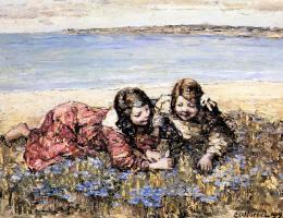 Эдвард Хорнел. Сбор цветов на берегу моря