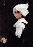 Паскаль Адольф Жан Даньян-Бувре. Портрет девушки Бриттани