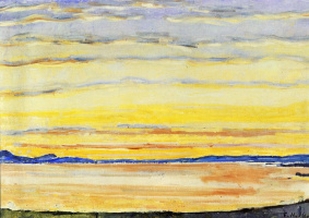 Фердинанд Ходлер. Закат на женевском озере