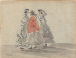 Эжен Буден. Три женщины в Трувиле