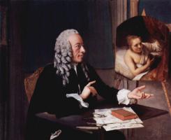 Жан-Этьен Лиотар. Франсуа Тронхин с картиной Рембрандта