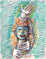 Alexander Grigoryevich Tyshler. Head clown