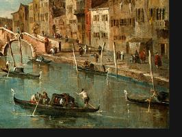 Франческо Гварди. Вид на канал Каннареджио, Венеция