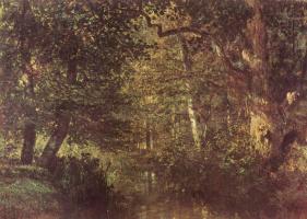 Констан Тройон. Протока в лесу