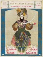 Lev Samoilovich Bakst (Leon Bakst). The poster for Diaghilev's Russian seasons of 1910