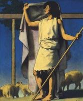 Максфилд Пэрриш. Пастух в пурпурном плаще