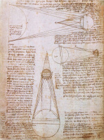 "Leonardo da Vinci. Page from ""the Leicester Codex"""