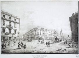Karl Petrovich Beggrov. View of Sadovaya street