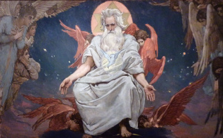 Victor Mikhailovich Vasnetsov. The God Of Hosts. The sketch for the painting of the Vladimir Cathedral in Kiev