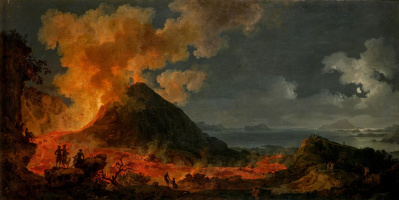 Pierre-Jacques Woller. The eruption of Vesuvius. 1771