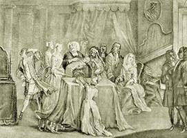 Уильям Хогарт. Священник Хенли, крестящий ребенка