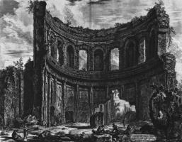 Джованни Баттиста Пиранези. Руины так назваемого храма Аполлона на вилле Адриана