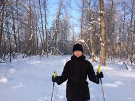 ILSHAT Gil. Зимним утром на лыжне.