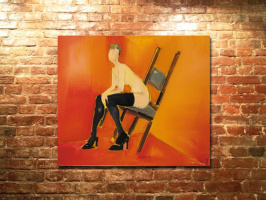 """""""Broken chair"""" 2002, um, 120х138"""