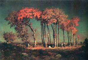 Theodore Rousseau. Under the birches, evening
