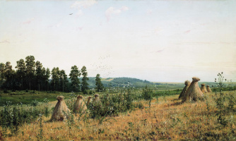 Иван Иванович Шишкин. Сжатое поле. Полесский пейзаж
