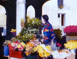 Джордж Балкан. Цветочный рынок