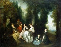 Николя Ланкре. Общество в саду