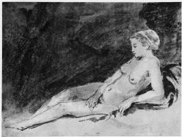 Рембрандт Харменс ван Рейн. Лежащая обнажённая