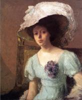 Джулиан Олден Уир. Девушка в белой шляпе