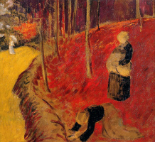 Paul Sulzier. Harvest at Pont-Aven
