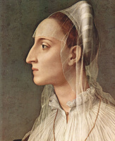 Аньоло Бронзино. Портрет Лауры Баттифери, фрагмент