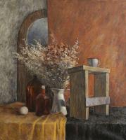 Татьяна Чепкасова. Натюрморт с сухоцветами